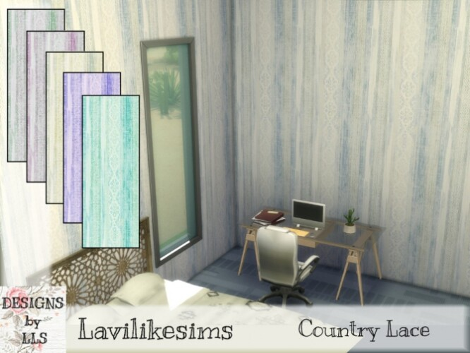 Country Lace wallpaper by lavilikesims