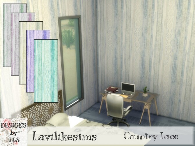 Country Lace wallpaper by lavilikesims at TSR image 273 670x503 Sims 4 Updates