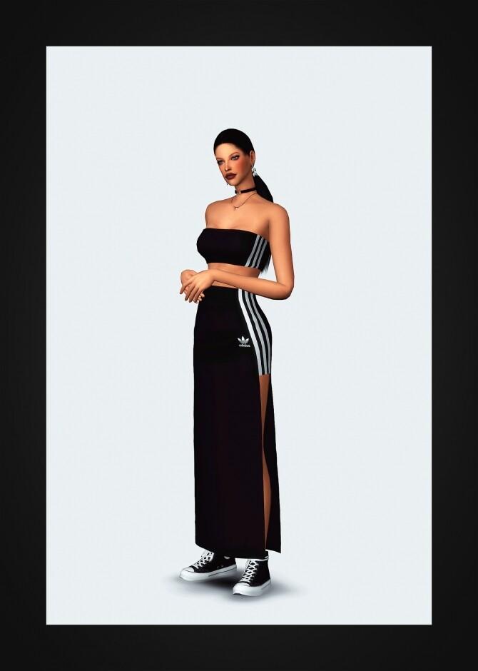 Sims 4 Tube Top & Long Skirt at Gorilla