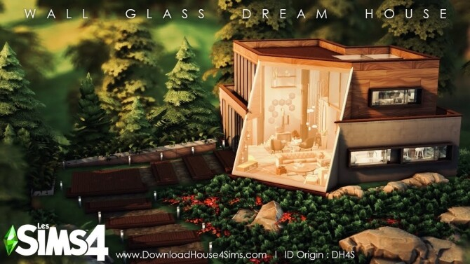 Wall Glass Dream House at DH4S image 2762 670x377 Sims 4 Updates