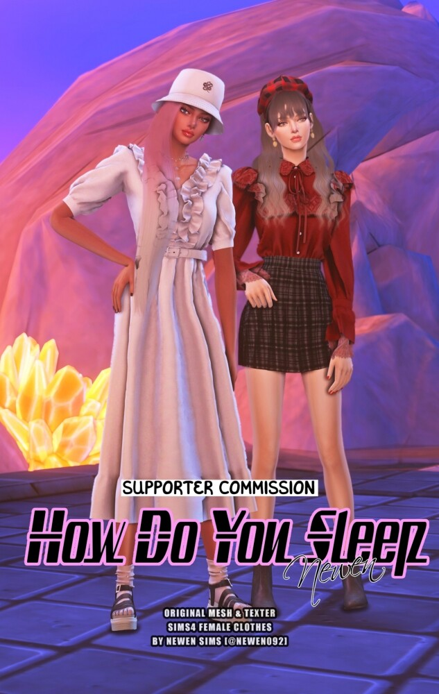 How do you sleep set at NEWEN image 2782 633x1000 Sims 4 Updates