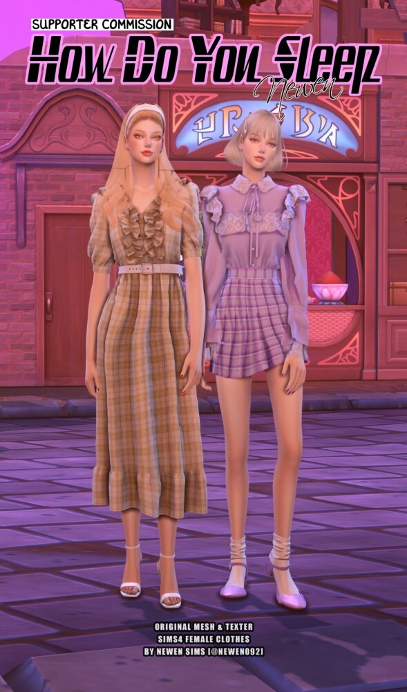 How do you sleep set at NEWEN image 2792 589x1000 Sims 4 Updates