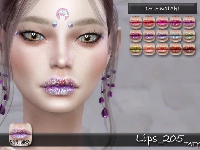 Sims 4 Lips 205 by tatygagg at TSR