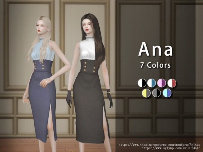 Sims 4 Ana outfit by Arltos at TSR