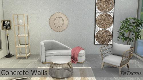 Sims 4 Concrete walls at TaTschu`s Sims4 CC