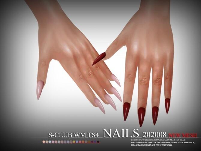 Sims 4 Nails 202008 by S Club WM at TSR