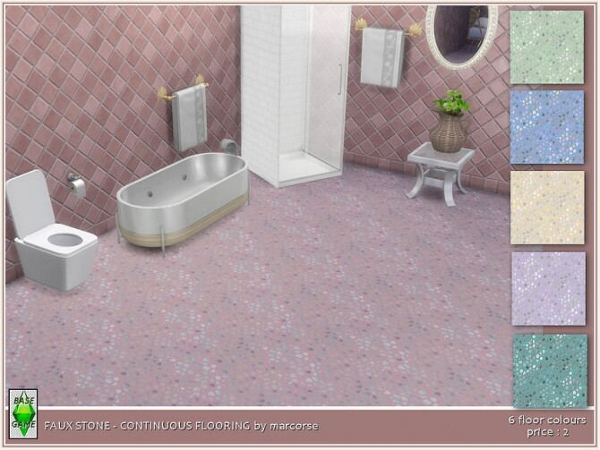 Faux Stone Continuous Flooring by marcorse at TSR image 283 670x503 Sims 4 Updates