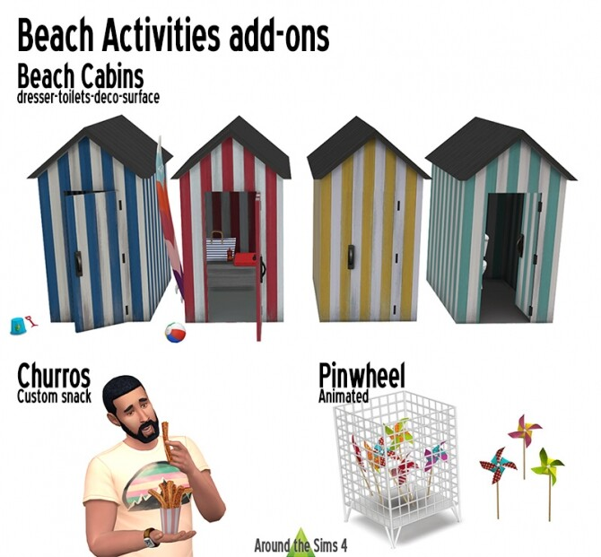 Beach activities add ons at Around the Sims 4 image 2832 670x621 Sims 4 Updates