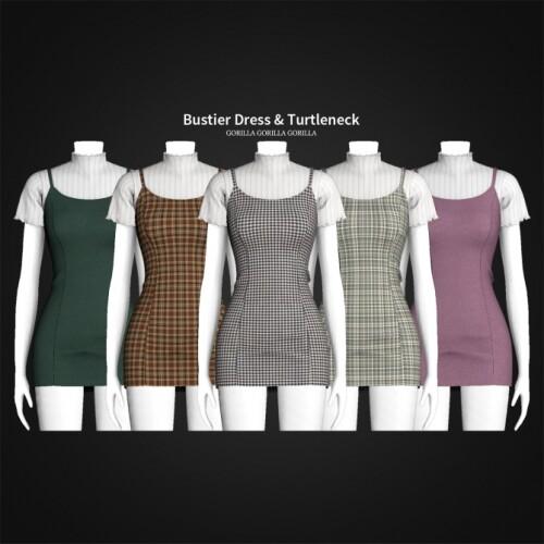 Bustier Dress Turtleneck