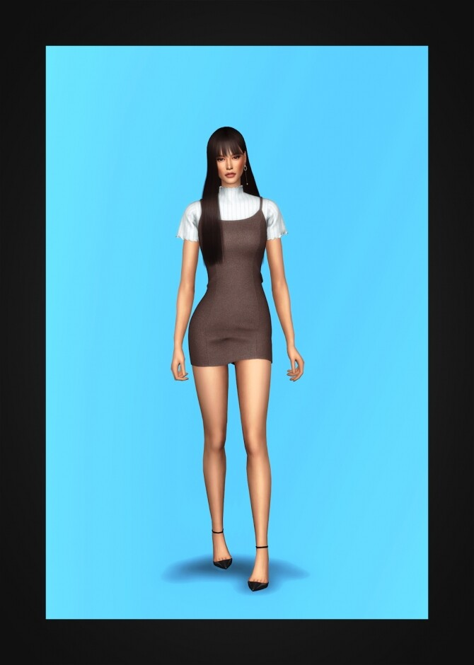Bustier Dress & Turtleneck at Gorilla image 2862 670x940 Sims 4 Updates