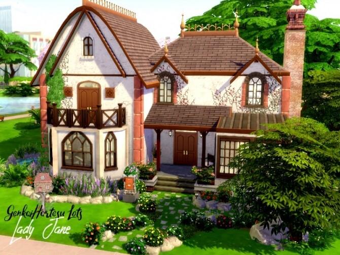 Lady Jane house by GenkaiHaretsu at TSR image 29 670x503 Sims 4 Updates