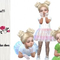 Toddler lace gloves by TrudieOpp