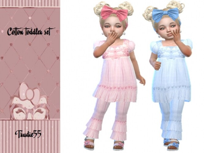 Cotton toddler set by TrudieOpp