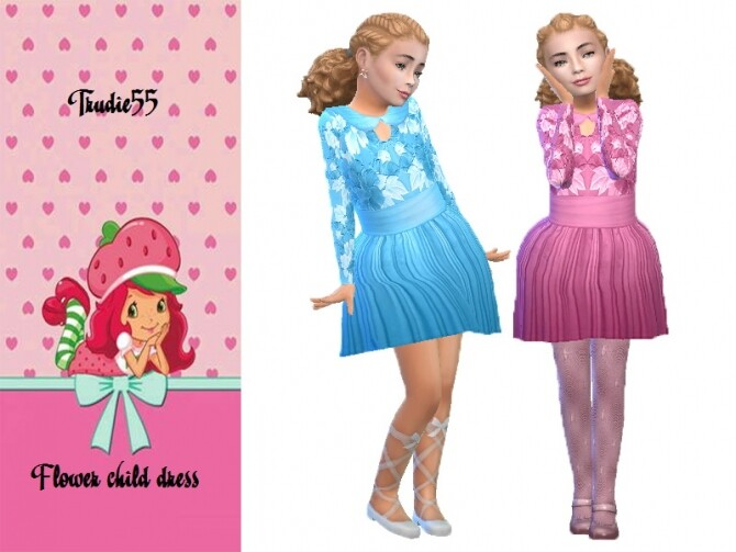 Sims 4 Flower child dress by TrudieOpp at TSR