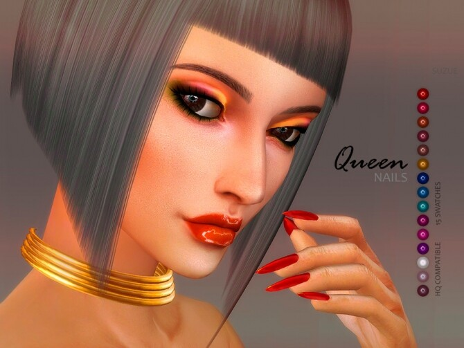 Sims 4 Queen Nails by Suzue at TSR