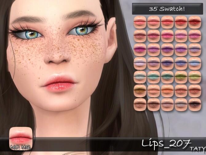 Lips 207 by tatygagg at TSR image 3020 670x503 Sims 4 Updates