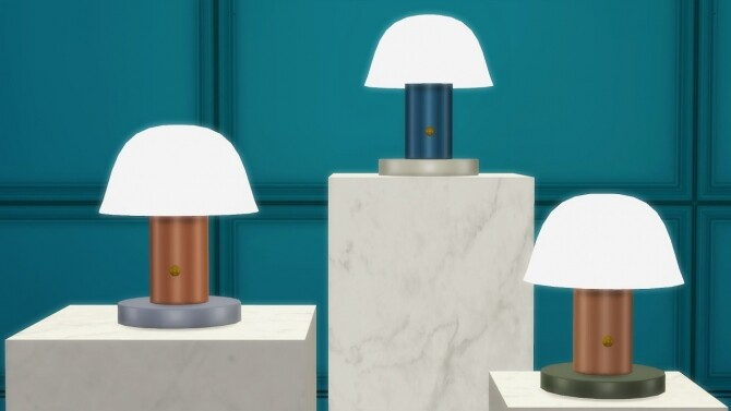 SETAGO TABLE LAMP at Meinkatz Creations image 3061 670x377 Sims 4 Updates