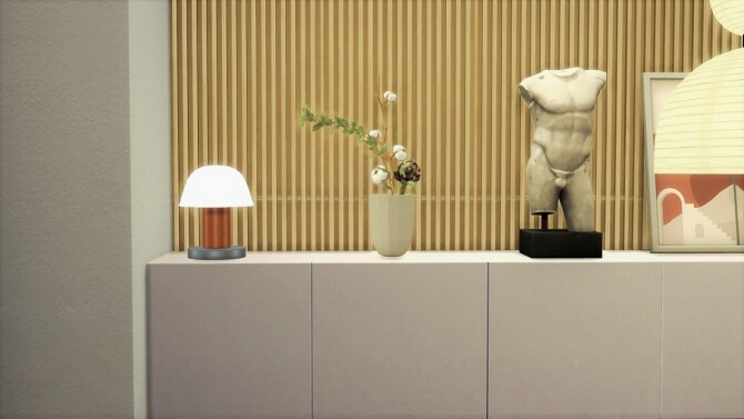 Sims 4 SETAGO TABLE LAMP at Meinkatz Creations