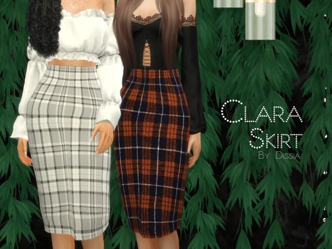 Sims 4 Clara Skirt by Dissia at TSR