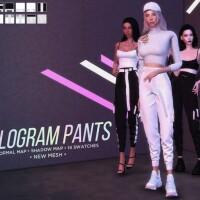Hologram Cargo Pants by Alexa Catt