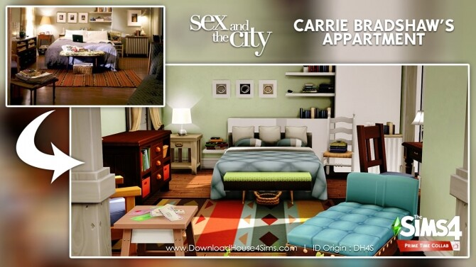 Carrie Bradshaw's apartment at DH4S image 3201 670x377 Sims 4 Updates