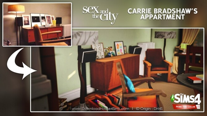 Carrie Bradshaw's apartment at DH4S image 3214 670x377 Sims 4 Updates