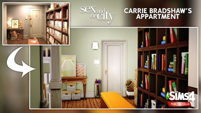Carrie Bradshaw's apartment at DH4S image 3221 670x377 Sims 4 Updates