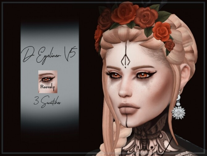 Sims 4 D Eyeliner V5 by Reevaly at TSR