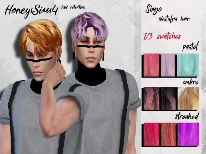 Sims 4 Male hair retexture by HoneysSims4 at TSR