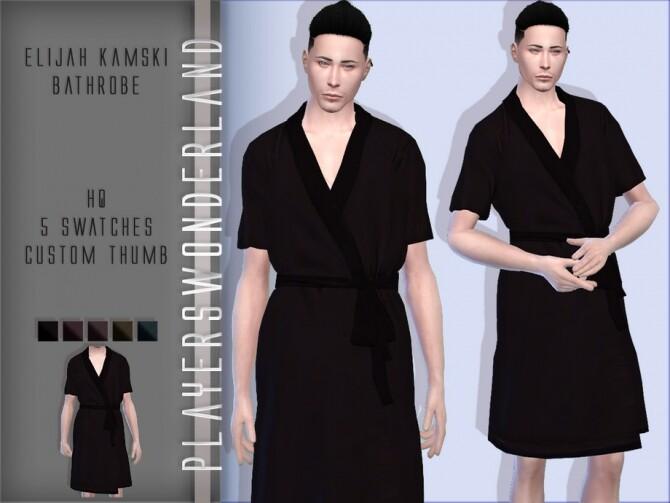 Sims 4 Elijah Kamski Bathrobe by PlayersWonderland at TSR