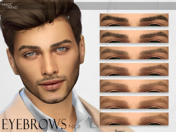 Sims 4 Eyebrows N13 by MagicHand at TSR
