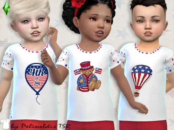 Toddler Patriotic Tee by Pelineldis