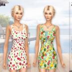 Summer Fruity Dress PF133 by Pinkfizzzzz