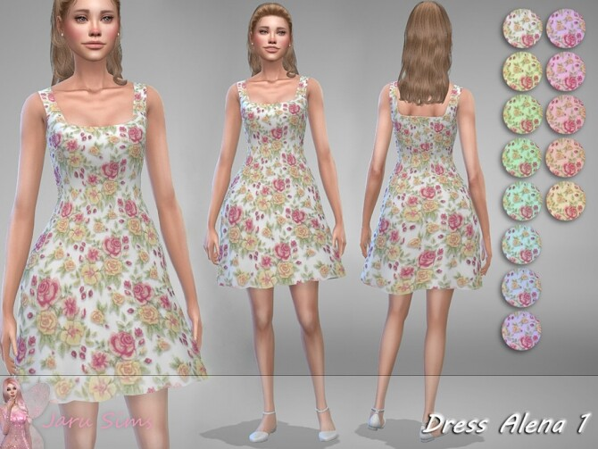Sims 4 Dress Alena by Jaru Sims at TSR