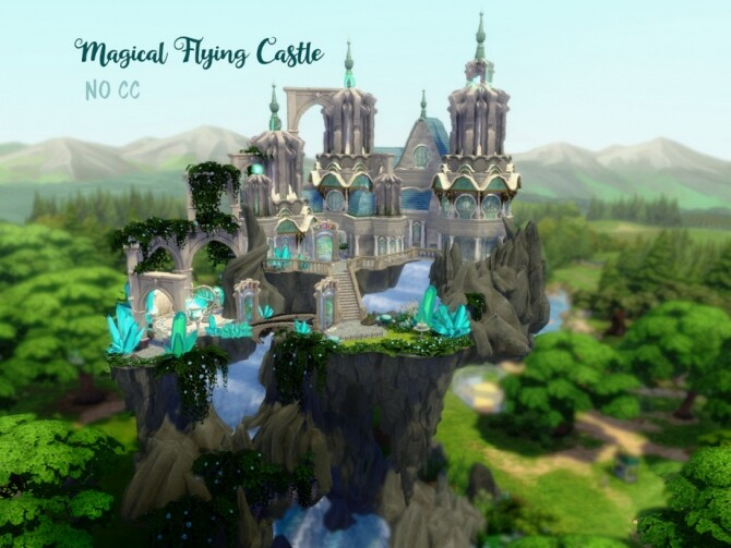Magical Flying Castle by VirtualFairytales at TSR image 3420 670x503 Sims 4 Updates