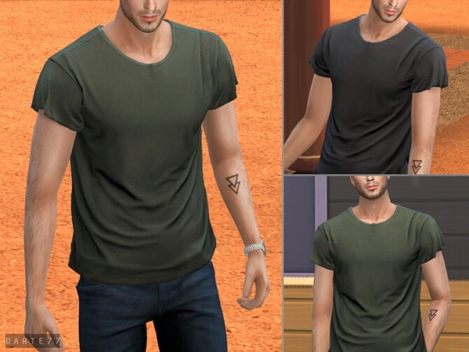 Short Sleeve Tee by Darte77 at TSR image 3422 670x503 Sims 4 Updates