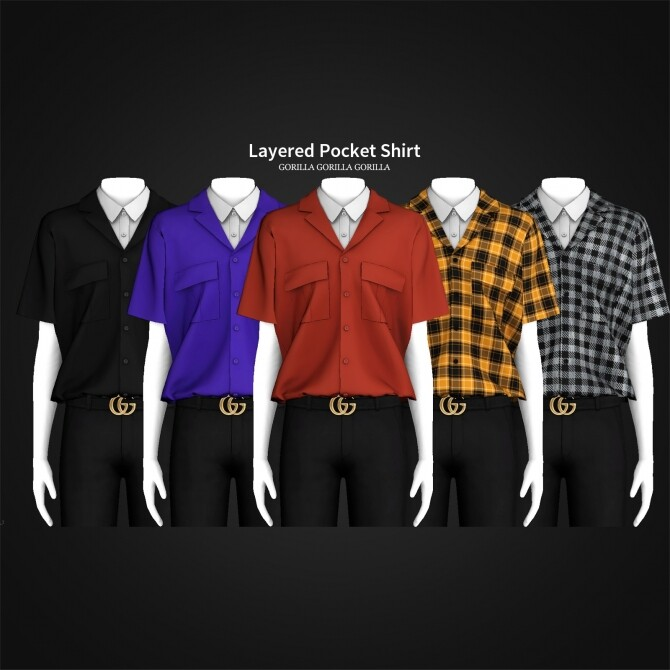 Layered Pocket Shirt at Gorilla image 3513 670x670 Sims 4 Updates