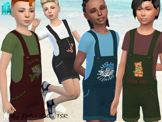 Gone Fishing Overall by Pelineldis at TSR image 3514 670x503 Sims 4 Updates