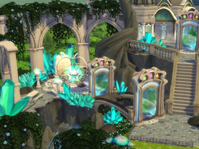 Magical Flying Castle by VirtualFairytales at TSR image 3520 670x503 Sims 4 Updates