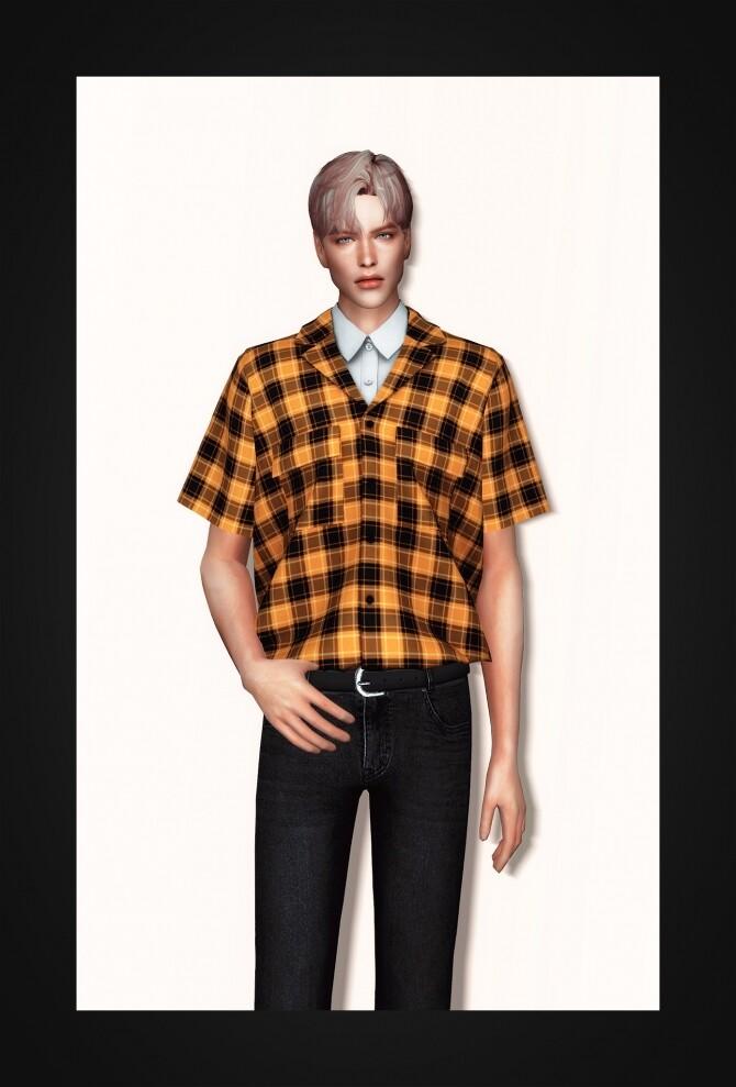 Sims 4 Layered Pocket Shirt at Gorilla
