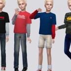 Stefan Shirt Kids by McLayneSims