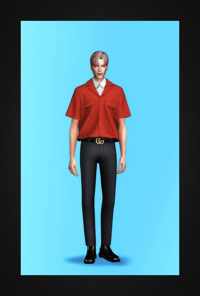 Layered Pocket Shirt at Gorilla image 3531 670x989 Sims 4 Updates