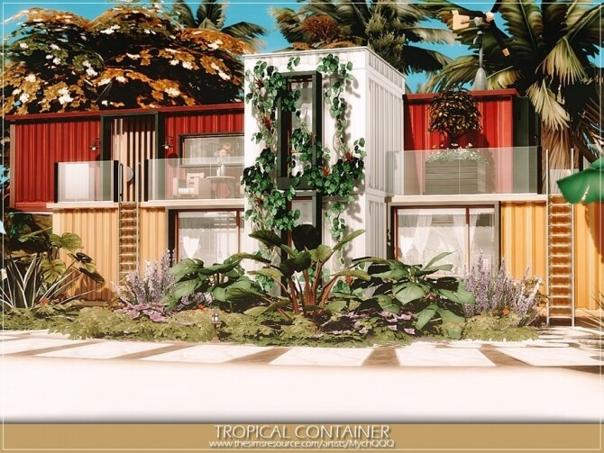Tropical Container by MychQQQ at TSR image 355 670x503 Sims 4 Updates