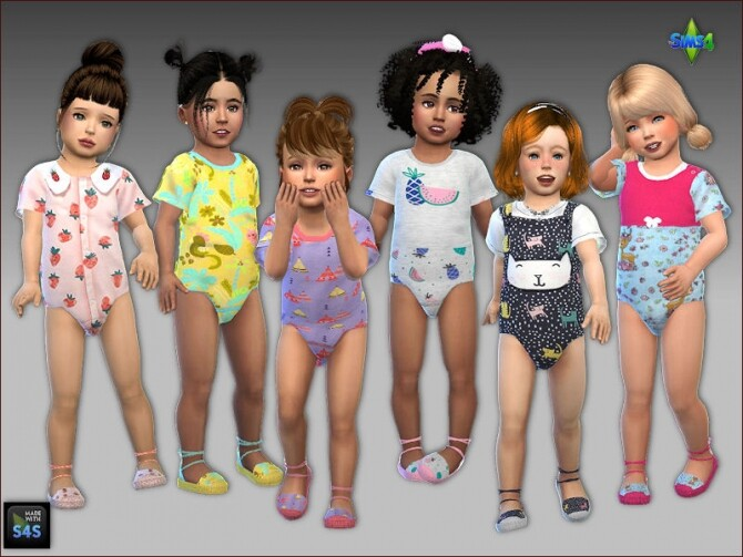 Onesies and sandals for toddler girls at Arte Della Vita image 360 670x503 Sims 4 Updates