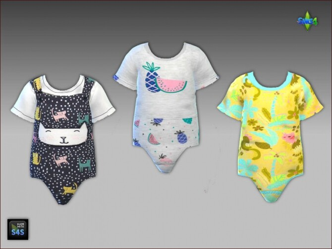 Onesies and sandals for toddler girls at Arte Della Vita image 3613 670x503 Sims 4 Updates