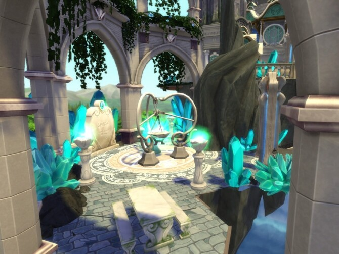Magical Flying Castle by VirtualFairytales at TSR image 3620 670x503 Sims 4 Updates