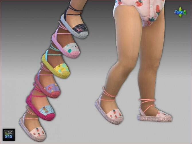 Sims 4 Onesies and sandals for toddler girls at Arte Della Vita