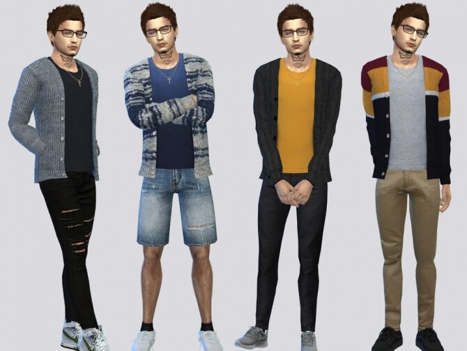 Sims 4 Anthony Casual Cardigan by McLayneSims at TSR