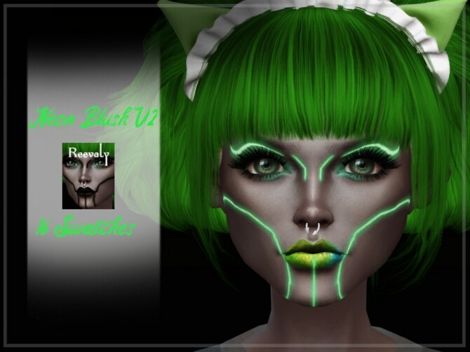 Sims 4 Neon Blush V2 by Reevaly at TSR