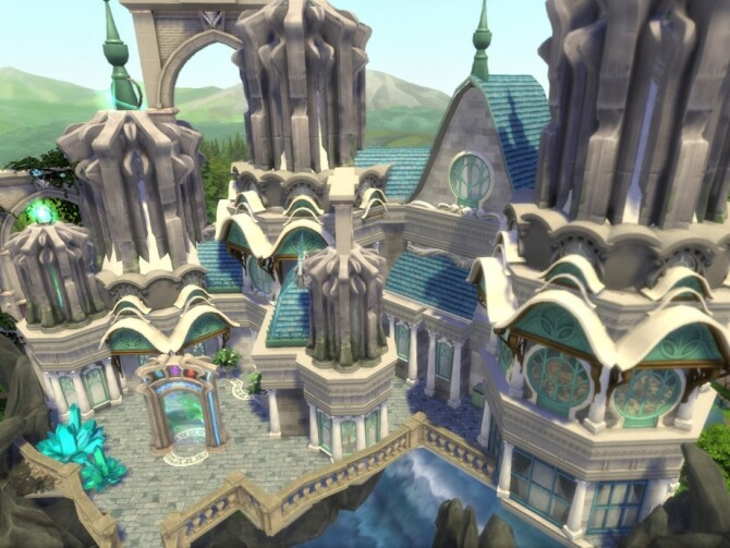 Magical Flying Castle by VirtualFairytales at TSR image 3719 670x503 Sims 4 Updates
